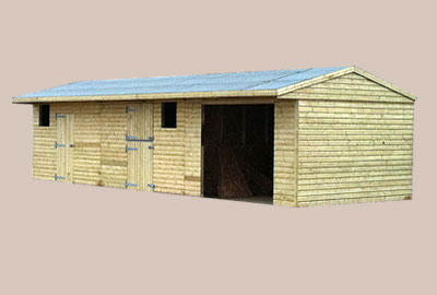 36' X 12' (10.9m x 3.6m) Shiplap Apex Field Shelter/Stable