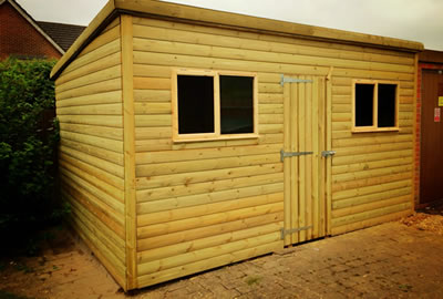 12' x 9' (3.6m x 2.7m) Pent Shed