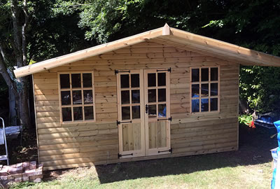 12' x 8' (3.6m x 2.4m) Apex Summerhouse